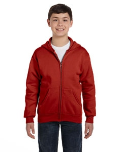 Hanes P480 Youth 7.8 oz. ComfortBlend® EcoSmart® 50/50 Full-Zip Hood