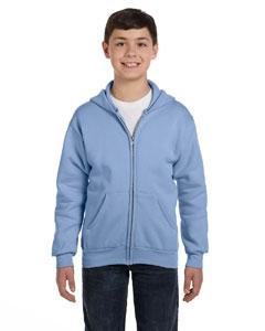 Hanes P480 Youth 7.8 oz. ComfortBlend® EcoSmart® 50/50 Full-Zip Hood