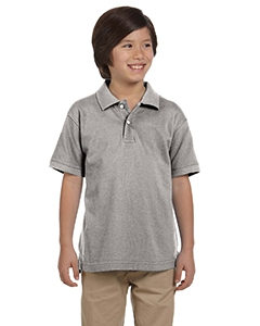 Harriton M200Y Youth 6 oz. Ringspun Cotton Piqué Short-Sleeve Polo
