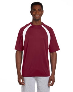 Harriton M322 4.2 oz. Athletic Sport Colorblock T-Shirt