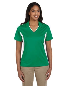 Harriton M355W Ladies' Side Blocked Micro-Piqué Polo