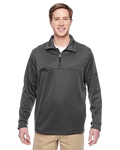 Harriton M730 Adult Task Performance Fleece Half-Zip Jacket