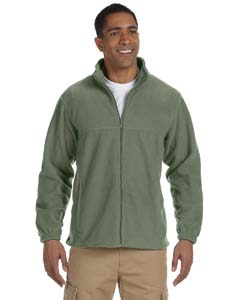 Harriton M990T Men's Tall 8oz. Full-Zip Fleece