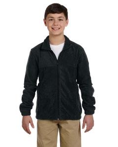 Harriton M990Y Youth 8 oz. Full-Zip Fleece