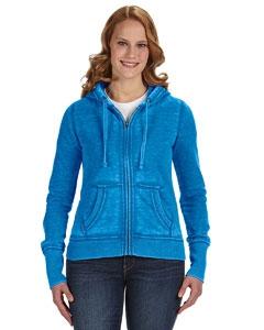 J America JA8913 Ladies' Zen Full-Zip Fleece Hood