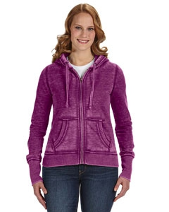 J America JA8913 Ladies' Zen Full-Zip Fleece Hood