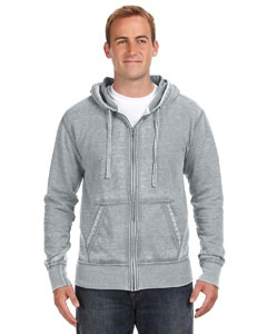 J America JA8916 Vintage Zen Full-Zip Fleece Hood