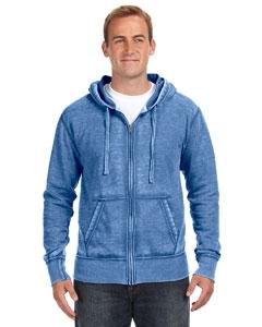 J America JA8916 Vintage Zen Full-Zip Fleece Hood