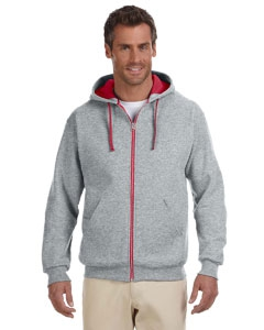 Jerzees 93CR 8 oz., 50/50 NuBlend® Contrast Full-Zip Hood