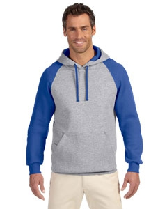 Jerzees 96CR 8 oz., 50/50 NuBlend® Colorblock Raglan Pullover Hood
