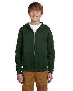 Jerzees 993B Youth 8 oz., 50/50 NuBlend® Fleece Full-Zip Hood