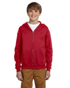 Jerzees 993B Youth 8 oz., 50/50 NuBlend® Fleece Full-Zip Hood