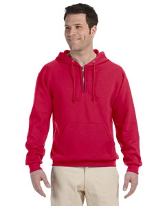 Jerzees 994MR 8 oz., 50/50 NuBlend® Fleece Quarter-Zip Pullover Hood