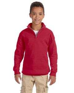 Jerzees 995Y Youth 8 oz., 50/50 NuBlend® Quarter-Zip Cadet Collar Sweatshirt