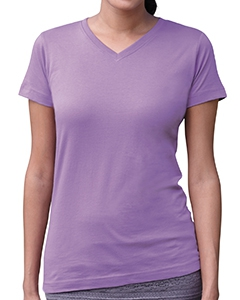 LAT 3507 Ladies' Fine Jersey V-Neck Longer Length T-Shirt
