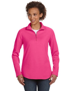 LAT 3764 Ladies' Quarter-Zip Pullover