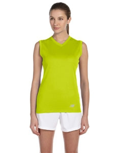 New Balance N7117L Ladies' Ndurance® Athletic V-Neck  Workout T-Shirt