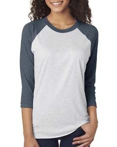 Next Level 6051 Unisex Triblend 3/4-Sleeve Raglan Tee