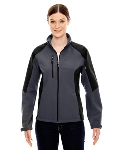 North End 78077 Ladies' Compass Colorblock Three-Layer Fleece Bonded Soft Shell Jacket