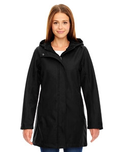 North End 78171 Ladies' City Textured Three-Layer Fleece Bonded Soft Shell Jacket