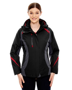 North End 78195 Ladies' Height 3-in-1 Jacket with Insulated Liner