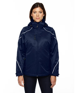 North End 78196 Ladies' Angle 3-in-1 Jacket with Bonded Fleece Liner