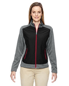 North End 78202 Ladies' Victory Hybrid Performance Fleece Jacket