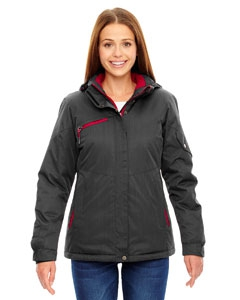 North End 78209 Ladies' Rivet Textured Twill Insulated Jacket