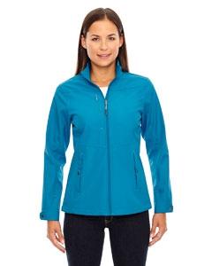 North End 78212 Ladies' Forecast Three-Layer Light Bonded Travel Soft Shell Jacket