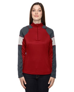 North End 78214 Ladies' Quick Performance Interlock Half-Zip Top
