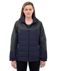 North End 78232 Ladies' Excursion Meridian Insulated Jacket with Melange Print
