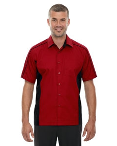 North End 87042T Men's Tall Fuse Colorblock Twill Shirt