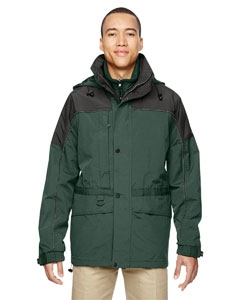 North End 88006 Men's 3-in-1 Two-Tone Parka
