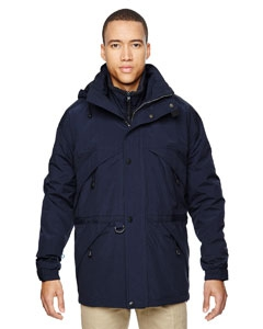 North End 88007 Men's 3-in-1 Parka with Dobby Trim
