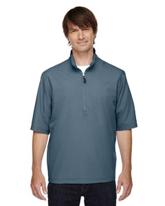 North End 88084 Men's MICRO Plus Lined Short-Sleeve Wind Shirt with Teflon®