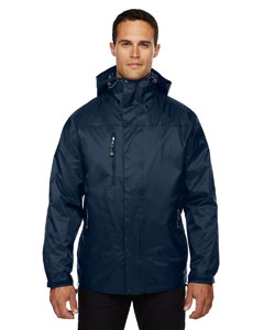 North End 88120 Men's Performance 3-in-1 Seam-Sealed Hooded Jacket