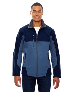 North End 88156 Men's Compass Colorblock Three-Layer Fleece Bonded Soft Shell Jacket