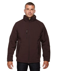 North End 88159 Men's Glacier Insulated Three-Layer Fleece Bonded Soft Shell Jacket with Detachable Hood
