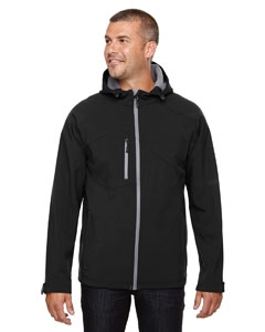North End 88166 Men's Prospect Two-Layer Fleece Bonded Soft Shell Hooded Jacket