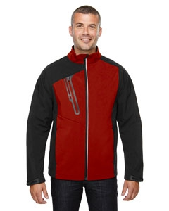 North End 88176 Men's Terrain Colorblock Soft Shell with Embossed Print