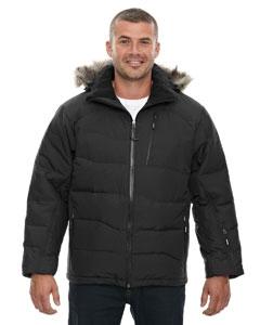 North End 88179 Men's Boreal Down Jacket with Faux Fur Trim