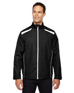 North End 88188 Men's Tempo Lightweight Recycled Polyester Jacket with Embossed Print