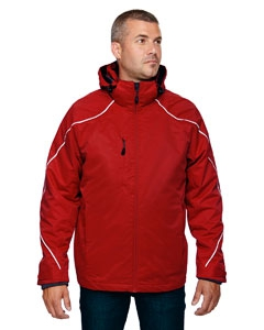 North End 88196 Men's Angle 3-in-1 Jacket with Bonded Fleece Liner