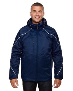 North End 88196T Men's Tall Angle 3-in-1 Jacket with Bonded Fleece Liner