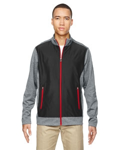 North End 88202 Men's Victory Hybrid Performance Fleece Jacket