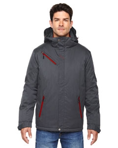 North End 88209 Men's Rivet Textured Twill Insulated Jacket