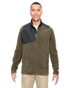 North End 88215 Men's Excursion Trail Fabric-Block Fleece Jacket
