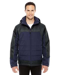 North End 88232 Men's Excursion Meridian Insulated Jacket with Melange Print
