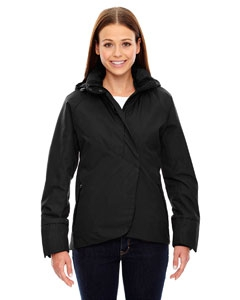 North End Sport Blue 78685 Ladies' Skyline City Twill Insulated Jacket with Heat Reflect Technology