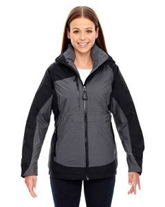North End Sport Red 78663 Ladies' Alta 3-in-1 Seam-Sealed Jacket with Insulated Liner
